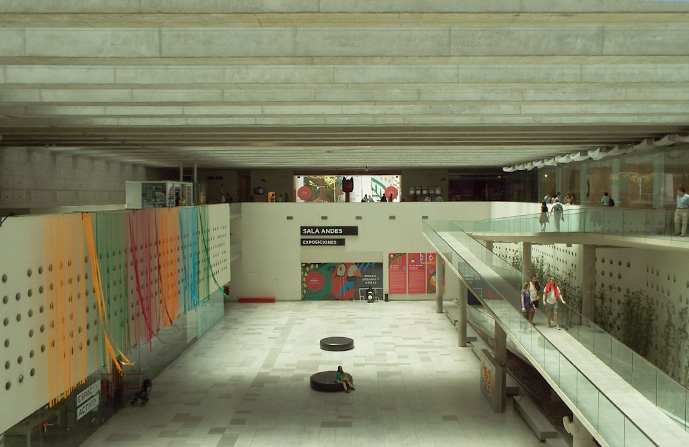 Interior do centro cultural