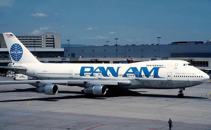 O Boeing 747-200 quando voava nas cores da PanAm