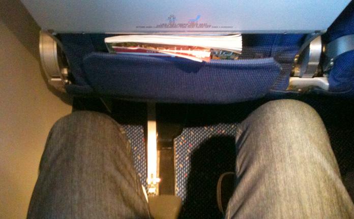 Bom espaço para as pernas