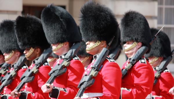 troca da guarda do Palácio de Buckingham