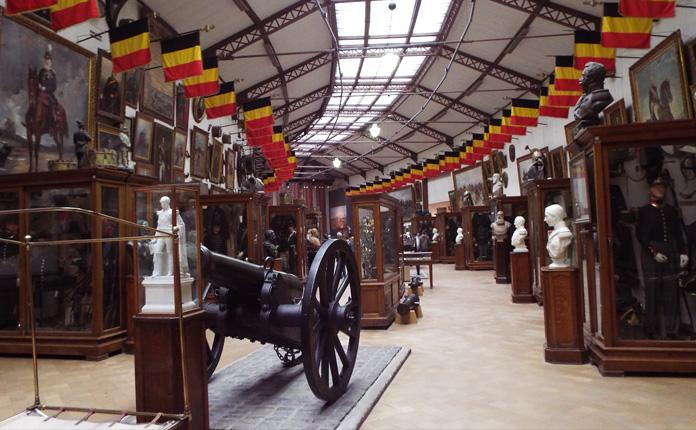 Pavilhão que conta a história militar belga