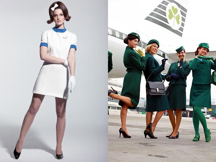 Air Canada (esquerda), anos 60 e Aer Lingus (direita), anos 70