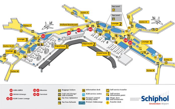 Mapa de Schiphol