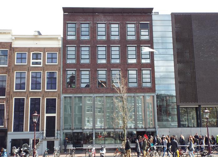 Anne Frank se escondeu aqui