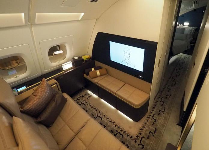 Um belo espaço em se tratando de um avião