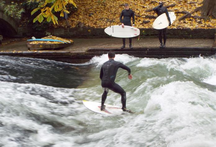 Surfe em Munique