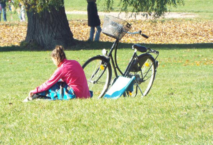 Lugar perfeito para relaxar na grama