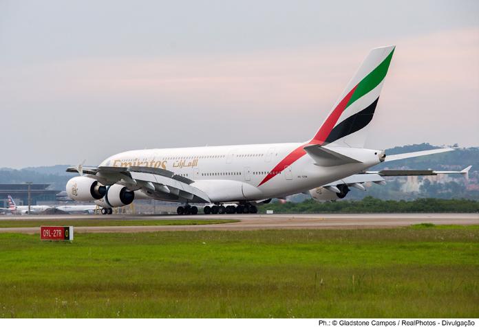 A380 antes de livrar a pista