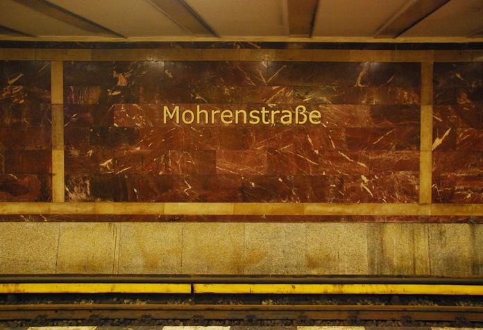 E parte desse mármore foi usado na reconstrução dessa estação do metrô