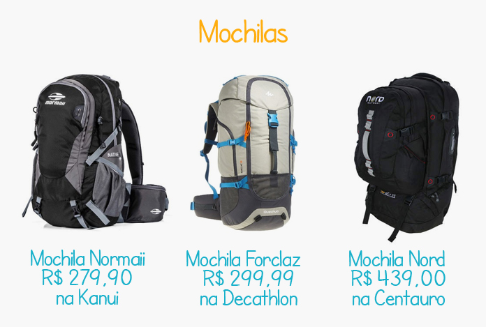 Boas mochilas para viagens de até 15 dias
