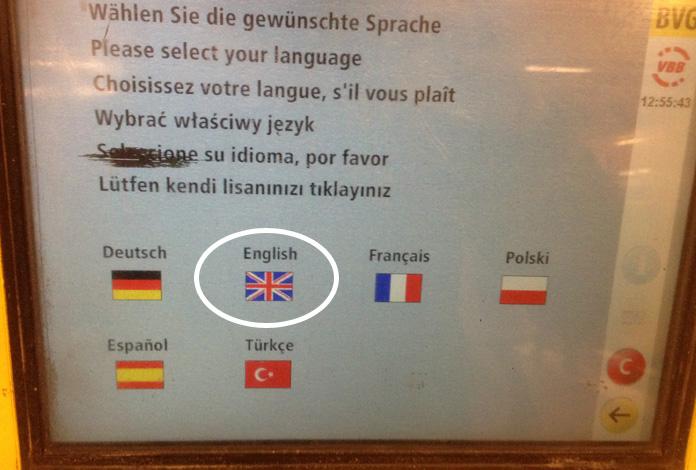 Passo 1: escolha o idioma