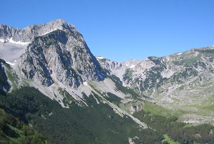 O pico mais alto da Bósnia