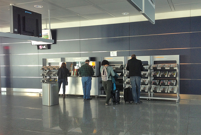 Comodidades do terminal da Lufthansa