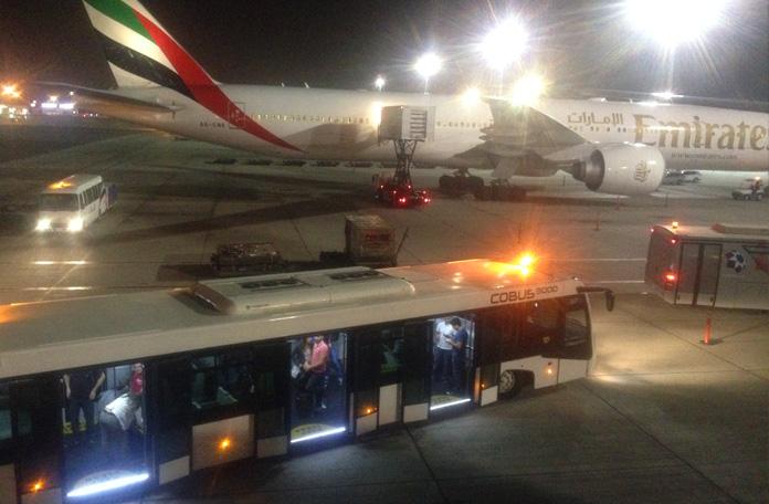 Chegada em Dubai