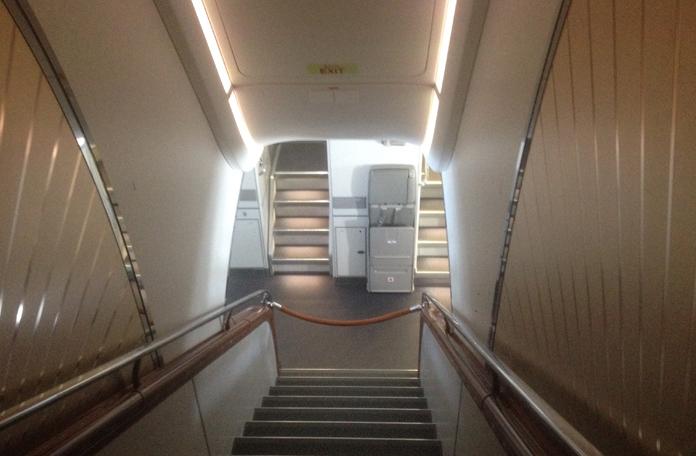 Uma das escadas internas