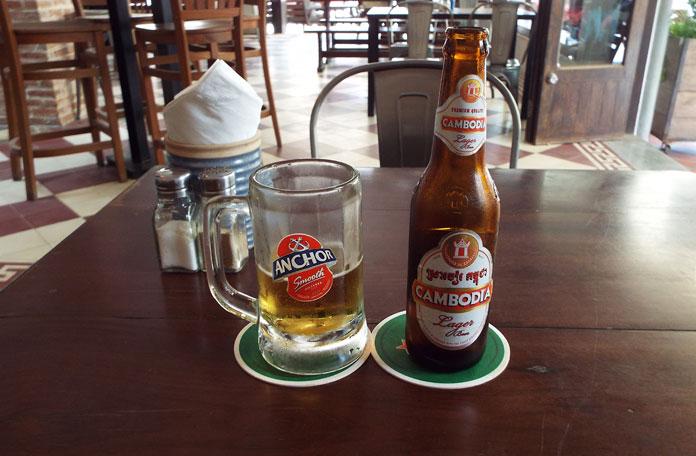 Cerveja cambojana, excelente!