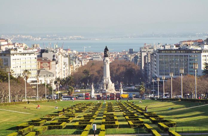 Meu primeiro fim de tarde em Lisboa alguns anos atrás