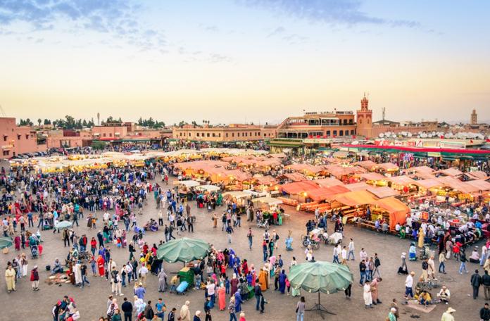 Praça central de Marrakech
