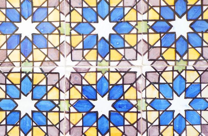 Azulejo de zelige, tipicamente árabe