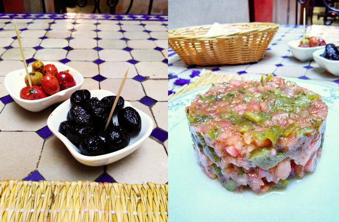 Azeitonas maravilhosas e a salada marroquina
