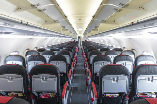 TV no avião