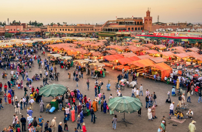 Praça central de Marrakech