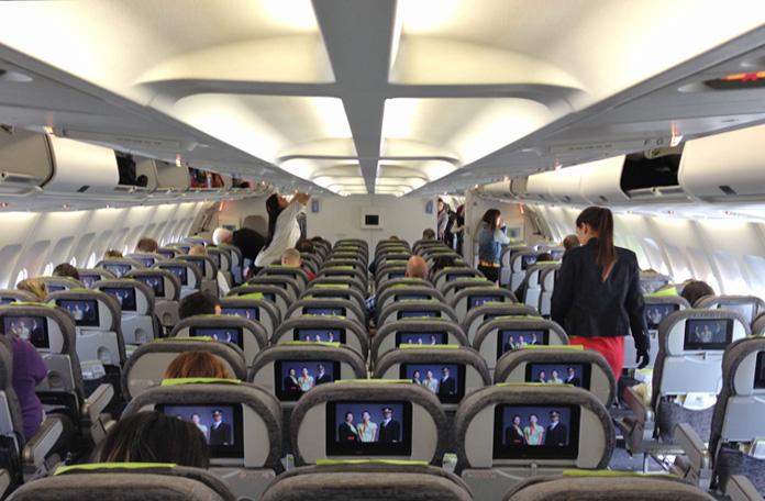 Classe econômica dos A340 da TAP