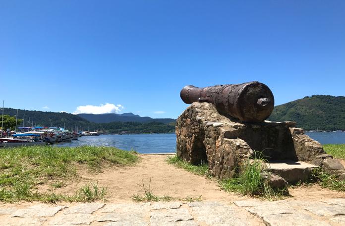 Canhões que defendiam a cidade
