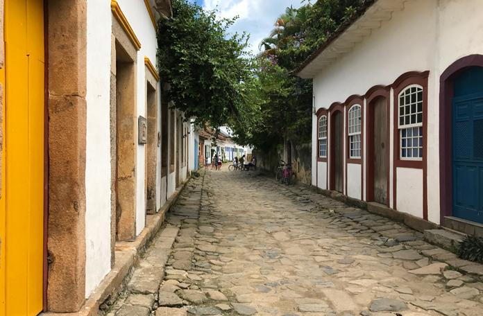 Uma das muitas ruas do centro histórico