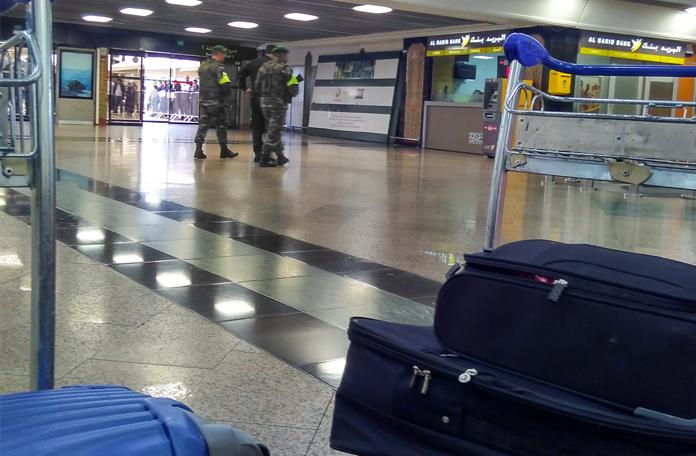 Muita segurança no aeroporto de Casablanca