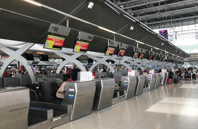 Posições da Emirates em Bangkok