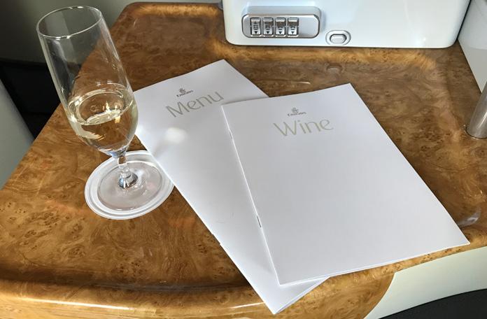 Menu e carta de vinhos
