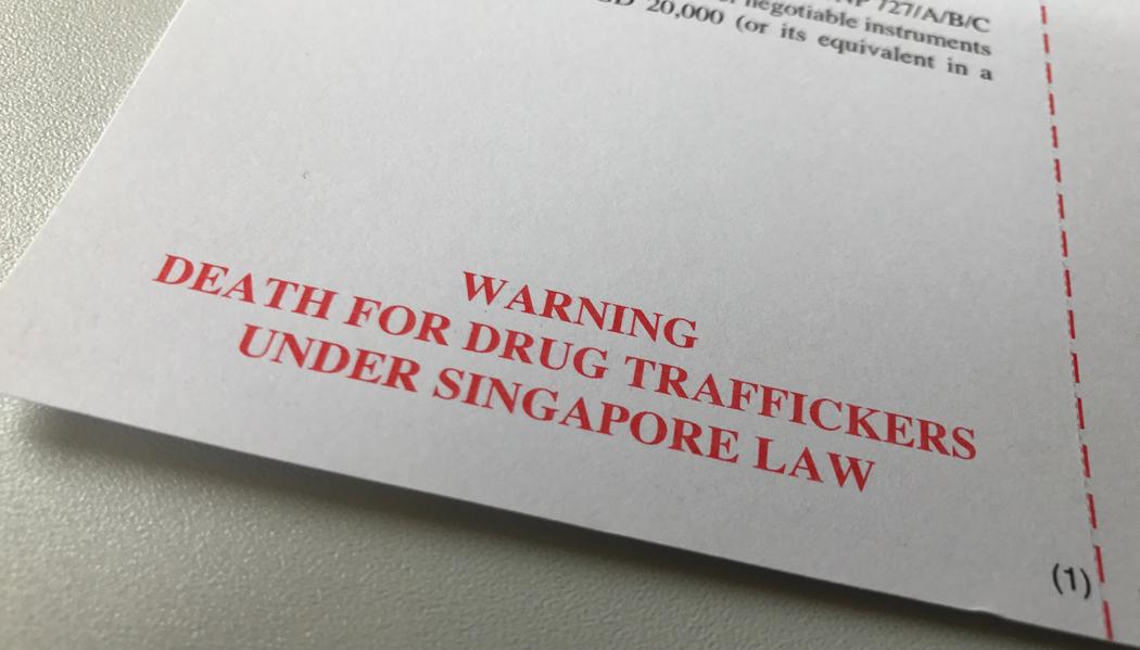 Chegando em Cingapura: formulário de imigração