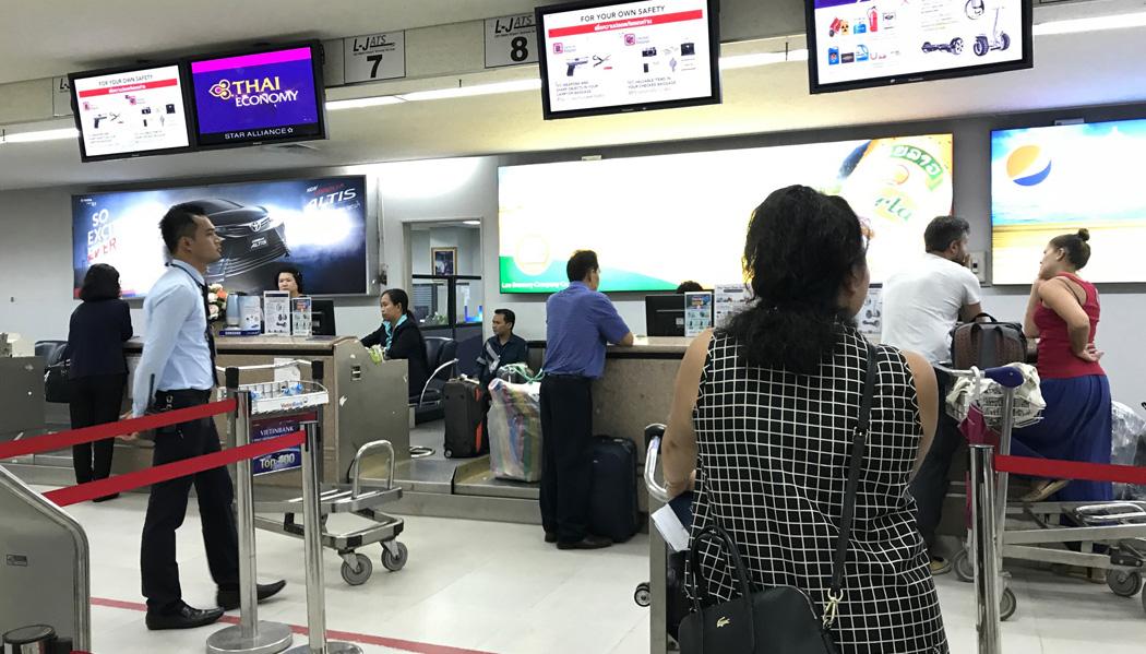 Check-in em Vientiane
