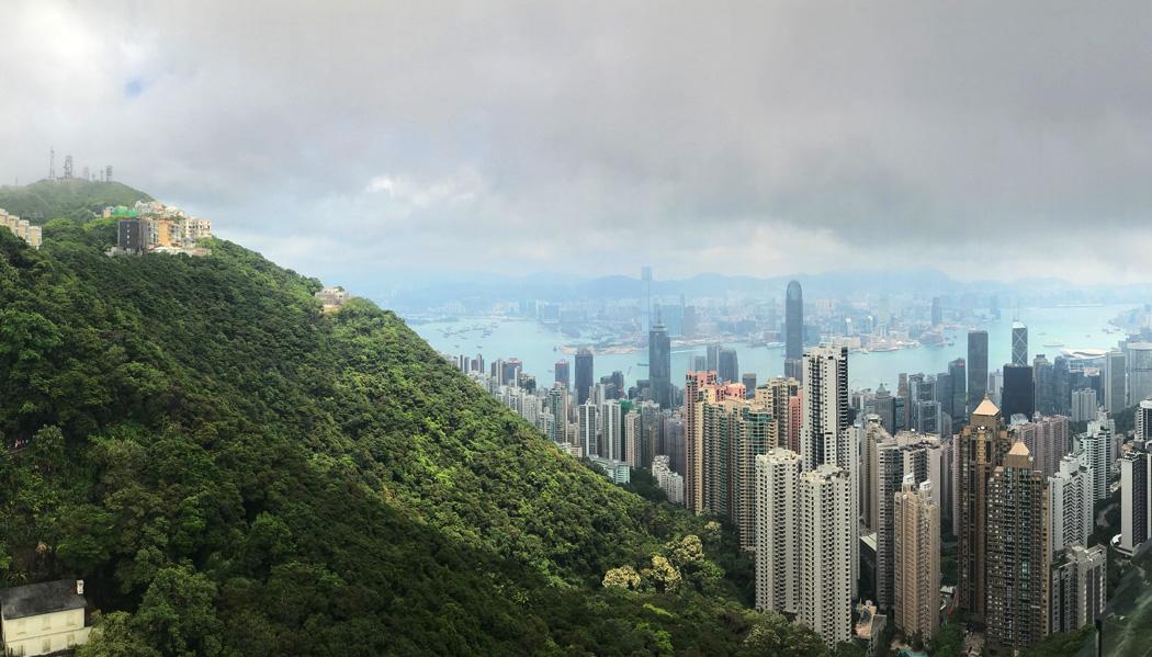 A vista do The Peak