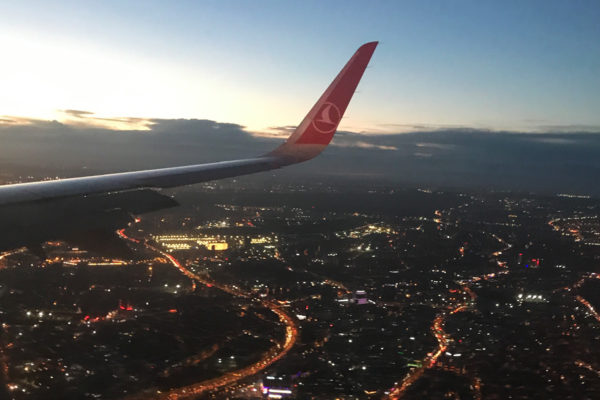 Chegando em Istambul
