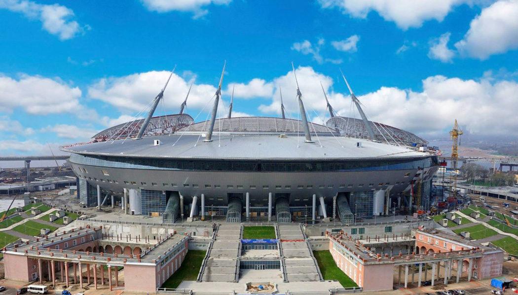 estádio em São Petersburgo