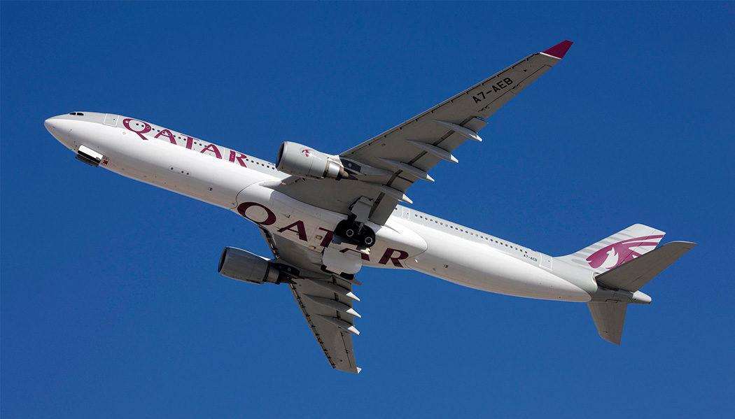 classe executiva da Qatar no Airbus A330
