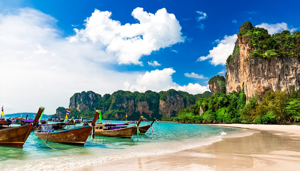 Railay Beach na Tailândia