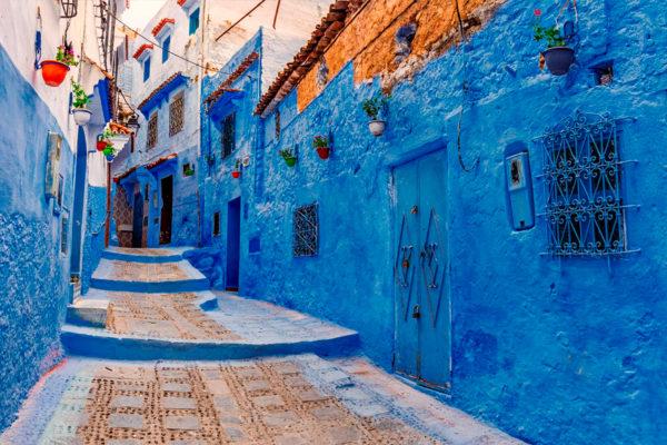 cidade azul do Marrocos