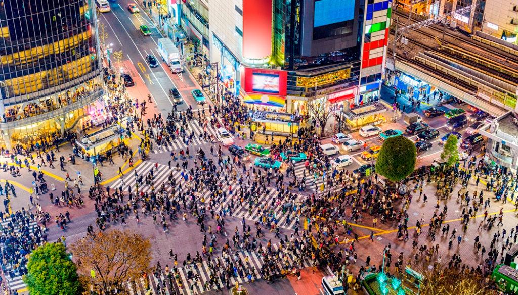 Shibuya Roteiro em Tóquio
