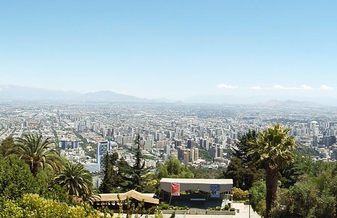 Cerro San Cristóbal, o ponto mais alto de Santiago