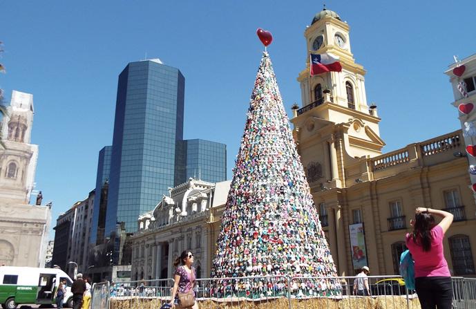 Plaza de Armas, no Natal de 2014