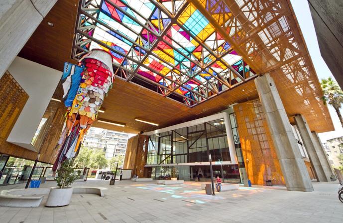 Hall de entrada do Centro Cultural Gabriela Mistral