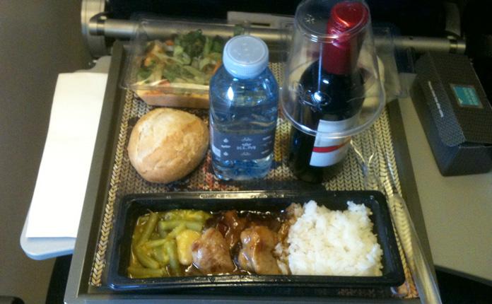 Jantar servido a bordo