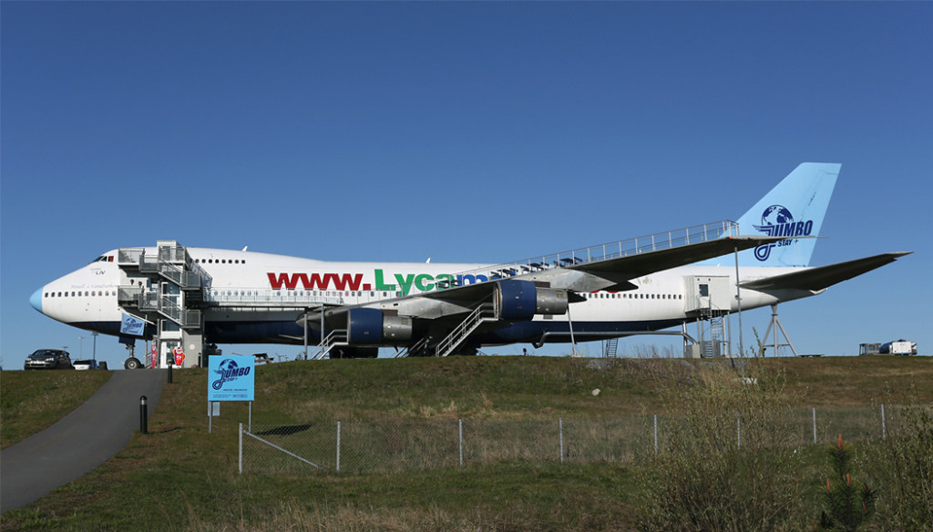 Boeing 747 transformado em hostel