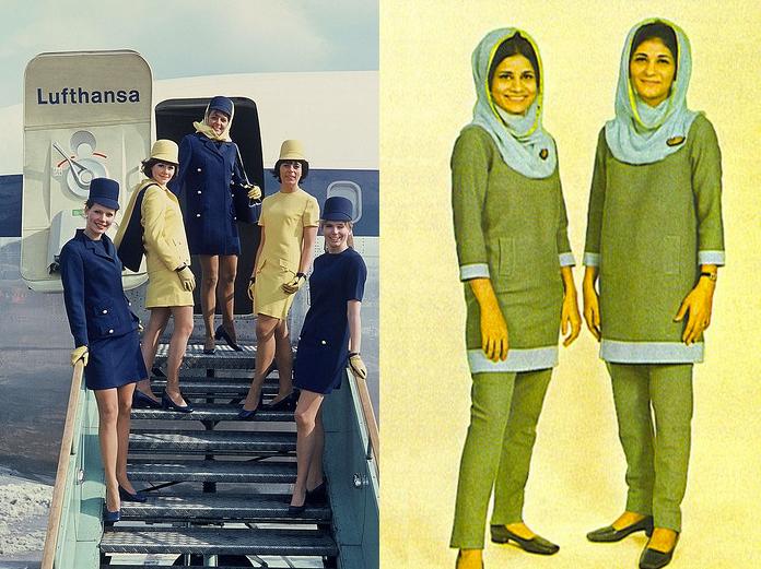 Lufthansa (esquerda) e Pakistan Airlines (direita), anos 70