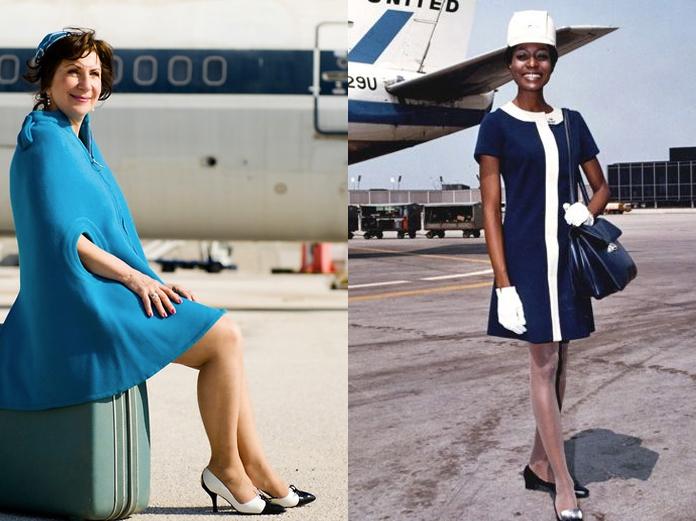 Olympic Airlines (esquerda) e United Airlines (direita), anos 60
