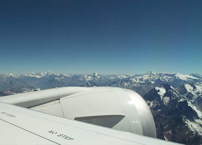 A vista dos Andes