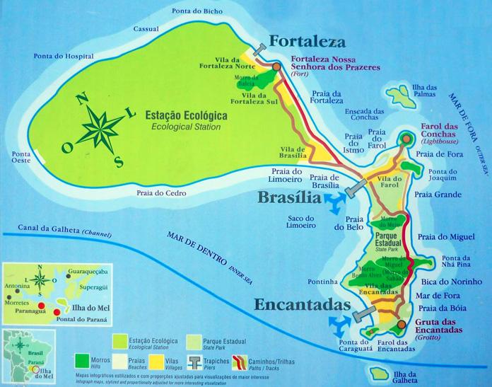 Mapa da ilha